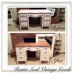This piece speaks for itself. French provincial styled furniture is beautiful on… Dixie Furniture, City Furniture, Upcycled Furniture, Furniture Projects, Furniture Makeover, Wood Projects, Desk Redo, French Provincial Furniture, Valspar Paint