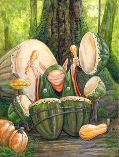 Squash Drummer by Ursula Vernon