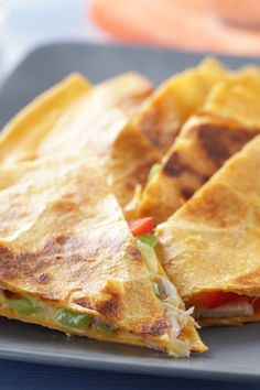 Smoked Turkey, Apple and Cheddar Quesadilla    by oprah #Quesadilla #Turkey #Apple #Cheddar