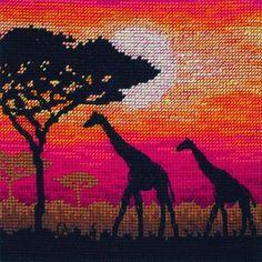 Giraffe Silhouette - counted cross stitch kit Maia