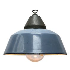 levice blue L clear glass | Lights | 360volt. The biggest collection vintage industrial lighting. Specialized in factory, enamel and industrial lamps.