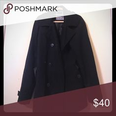 Black Zoo York Peacoat - Large (EUC) Black Zoo York Will Blend Peacoat.  Lightly used, in great condition. No visible damage or missing buttons. Zoo York Jackets & Coats Pea Coats