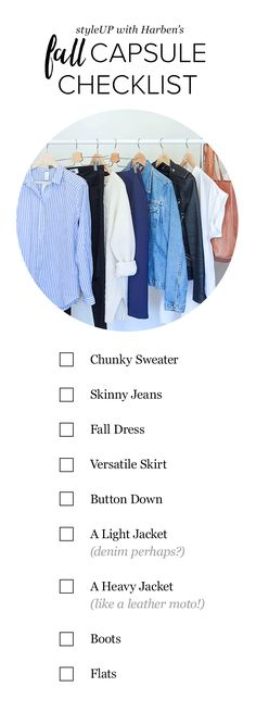 Today is the perfect day to start curating your Capsule Wardrobe. Check out our fall checklist to see what you already have, and what you're in the market for. Then you're ready to shop!