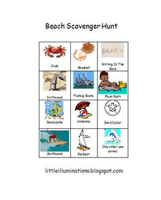 PreKandKSharing: Travel Activities For Kids.and a freebie! What to do on those long road trips. Could also use for beach field trip Beach Activities, Travel Activities, Outdoor Activities, Activities For Kids, School Scavenger Hunt, Scavenger Hunt Birthday, Scavenger Hunts, Kindergarten Rocks, Beach Trip