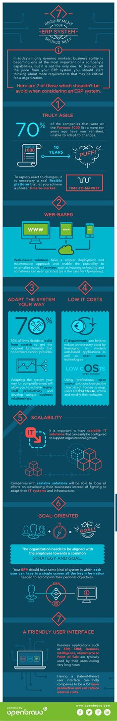 7 requirements your ERP System Should Meet – Infographic | Ngoding