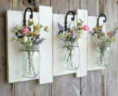 DIY Mason Jar Wall Flower Vase | Cool Mason Jar Crafts You Can Do At Home
