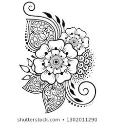 Find Mehndi Flower Pattern Henna Drawing Tattoo stock images in HD and millions of other royalty-free stock photos, illustrations and vectors in the Shutterstock collection. Thousands of new, high-quality pictures added every day. Mehndi Tattoo, Henna Tattoo Designs, Rangoli Designs, Mehndi Designs, Mehndi Flower, Paisley Flower Tattoos, Henna Drawings, Mehndi Drawing, Indian Flowers