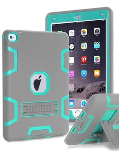 Amazon.com: iPad Pro 9.7 inch Case, iPad Pro 9.7 Heavy Duty Case,TOPSKY [Kickstand Feature],Shock-Absorption / High Impact Resistant Armor Defender Case For iPad Pro 9.7 inch 2016 Release,with Stylus, Grey/Green: Computers & Accessories