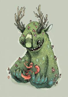 Behance :: forest girl by luiza kwiatkowska