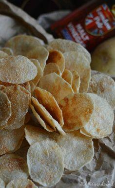 Microwave Potato Chips Salt & Vinegar Flavor - Yep, healthy, crispy chips made in the microwave! wonkywonderful.com