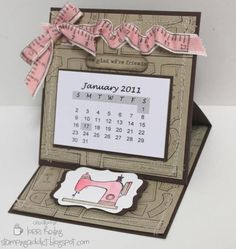 Easel Calendar Card by LorriHeiling - Cards and Paper Crafts at Splitcoaststampers
