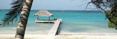 beaches in and near Cartagena - white sand @ rosario islands.  Underwater garden @ baru island