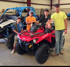 Thanks to Cody Guy, Zachary, Nathaniel and Charles Sullivan from Morton MS for getting a 2016 Can-Am Outlander L 450 at Hattiesburg Cycles