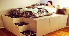 Un original modelo de cama que permite ahorrar espacio y puede hacerse sin conocimientos de carpintería.
