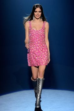 A hot pink beaded cocktail number from Betsey Johnson Fall 2012  I love Betsey!!!