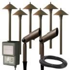 Hampton Bay Low-Voltage LED Bronze Outdoor Light Kit (6-Pack)-IWW6626L - The Home Depot