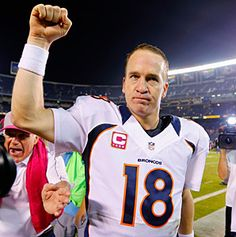 You the man Manning. For the first time in NFL history a team up 24 points lost by double digits. The Broncos put up 35 unanswered second half points to shock the Chargers in San Diego. 10.15.12