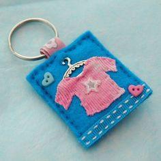 Hand sewn pink t-shirt key ring  - £7.00 + postage    www.elliestreasures.co.uk