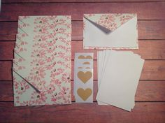 Mini cards, tiny cards and envelope set, floral envelopes,Mini stationery, Kraft envelope seals, floral envelopes, mini stationary, by PinkyPromiseBargains on Etsy