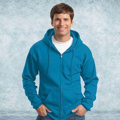Port & Company-Classic Full-Zip Hooded Sweatshirt-PC78ZH