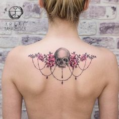 60 Best Skull Tattoo Designs and Ideas Tattoo vorlagen Tattoo Girls, Girl Tattoos, Tattoos For Guys, Tattoos For Women, Tatoos, Back Tattoos, Body Art Tattoos, Tattoo Ink, Star Tattoos