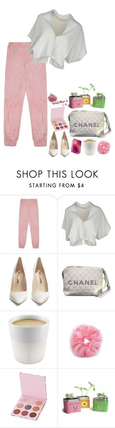 """""""ease into it"""" by vampirliebling ❤ liked on Polyvore featuring Veil London, Vionnet, Sophia Webster, Chanel, Eva Solo, Kerenika and Winky Lux"""