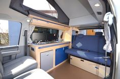 Cambee's spacious interior with double and passenger swivel seats and high lift roof, pleanty of space to chill in the day