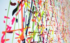"""Canvas """"Tuti Frutti"""" / The explosion of colors / Acrylic Artwork /  More Pictures on http://www.mjacquet.com/"""
