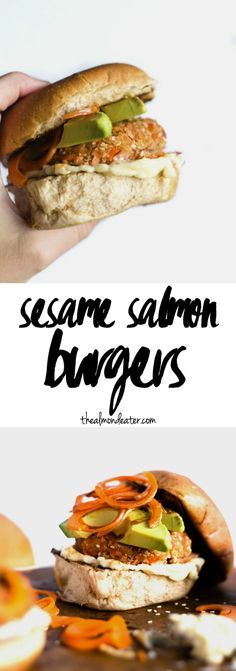 Sesame Salmon Burgers | Burgers made with SALMON, toasted sesame oil ...