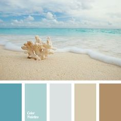 """""""dusty"""" brown almost black coffee color of coffee with milk color of morning sea color of stone color of the sky delicate beige gray beige gray-blue ice cream color pale blue sand shades of beige shades of sea. Beach Color Palettes, Colour Pallette, Ocean Color Palette, Pastel Palette, Pantone Azul, Pantone Color, Room Color Schemes, Color Schemes With Gray, Beach Color Schemes"""