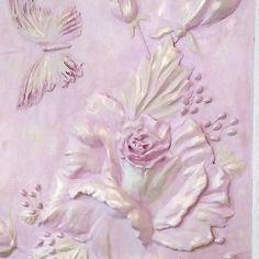 by BasreliefBoutique Plaster Texture, Texture Art, Ceramic Wall Art, 3d Wall Art, Shadow Box Display Case, Decorative Plaster, Flower Wall Decor, Ceramic Flowers, Ceramic Design