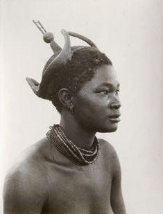 Africa | Ukuanyama woman, South West Africa (now Namibia). 1936 | ©A.M Duggan-Cronin