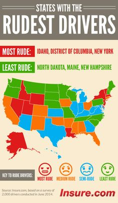 Where does your state rank for rudest drivers? Check out this ranking states with the rudest drivers.