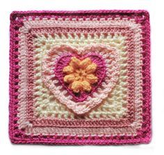 Grandmother's Heart Crochet Swap Square by Mellie Blossom, via Flickr | FREE ravelry download *