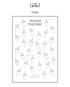 Bubble Tea Mood Tracker Printable For Bullet Journal By on Free Printable Ideas 9709 Bullet Journal Tracker, Bullet Journal Printables, Bullet Journal Mood, Journal Template, Bullet Journal Spread, Bullet Journal Layout, Bullet Journals, Bubble Tea, Journal Pages
