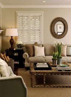 Neutral living room – I love everything about this!