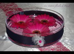 Centre de table mariage rose fushia 277