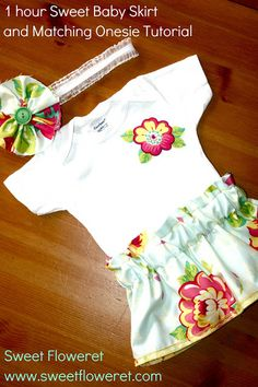 Sweet Floweret: Sweet Baby Skirt and Matching Onesie Tutorial