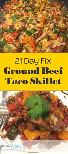 21 Day Fix Ground Beef Taco Skillet My husbands new favorite one skillet meal Easy Dinner Gluten Free Clean Eats 21 Day Fix Approved Dinner 21 Day Fix Diet, 21 Day Fix Meal Plan, Healthy Recipes, Clean Eating Recipes, Clean Foods, Eating Clean, 21dayfix Recipes, Fast Recipes, Easy Skillet Meals