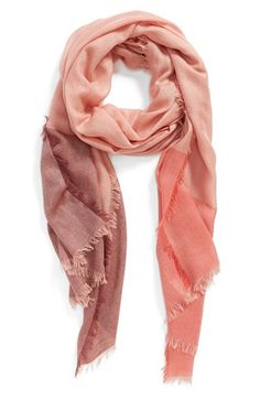 Nordstrom Colorblock Cashmere & Silk Scarf available at #Nordstrom