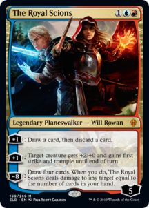 Magic: The Gathering - The Royal Scions - Foil - Throne of Eldraine The Valiant, Magic The Gathering Cards, Grimm Fairy Tales, Magic Cards, Wizards Of The Coast, Scion, Rowan, Target, Number