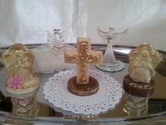 Figuras de chocolate blanco para primera comunión