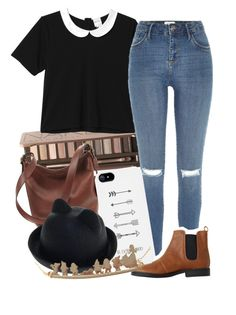 Day Date by mrsalythiamalik on Polyvore featuring polyvore, fashion, style, Monki, River Island, Coach, Disney and Urban Decay
