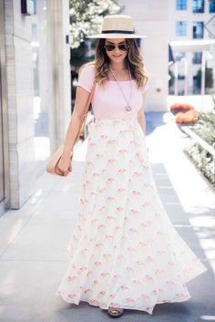 Lovers + Friends x REVOLVE shell print skirt | Houston Fashion Blogger, The Styled Fox