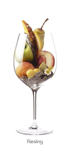 Pear, Pineapple, Apple, apricot and many many many more aromas  Order de best Rieslings with the purest fruit and spicearomas->