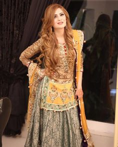 "3,199 Likes, 21 Comments - Modern Pakistani Elites (@modernpakistanielites) on Instagram: ""Naila looking #gorgeous wearing @mohsin.naveed.ranjha 's traditional Mehandi attire ✨ #mnr…"""