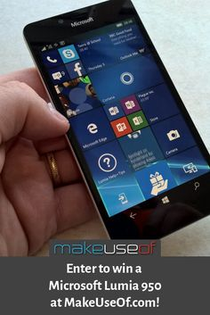 Enter to win this Microsoft Lumia 950!
