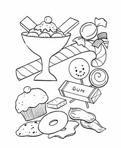 Candy Coloring Page Holidays Candy Coloring Pages Coloring