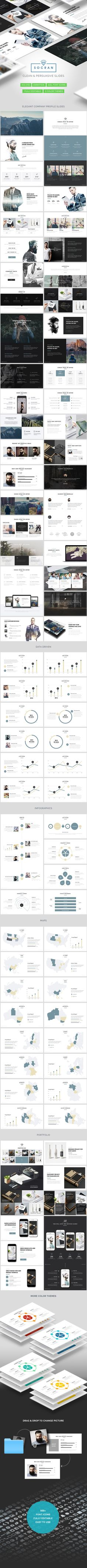 SOCRAN - Clean & Modern Keynote Presentation Template #design #slides Double exposure inspiration