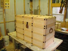 Cedar lined Pirate / Treasure Chest. Now to be aged 350 years. Custom Project!